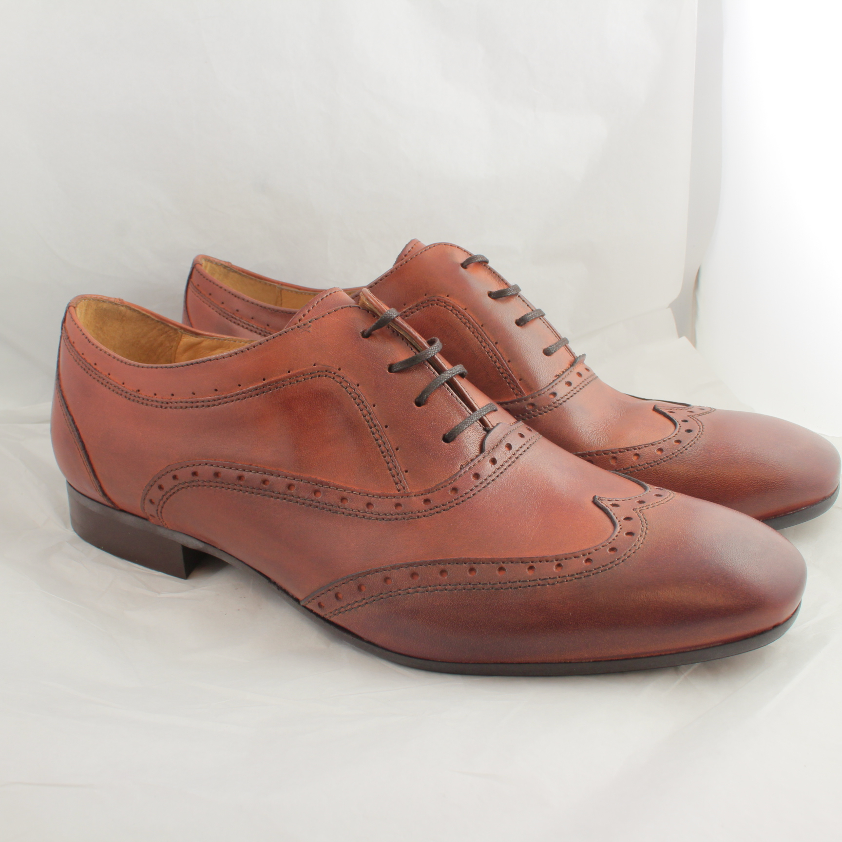 mens h by hudson leather lace up formal shoes uk size