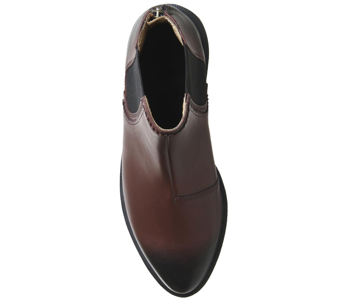 la dre martens zillow chelsea bottes cherry cherry cherry Rouge  boots 984d92