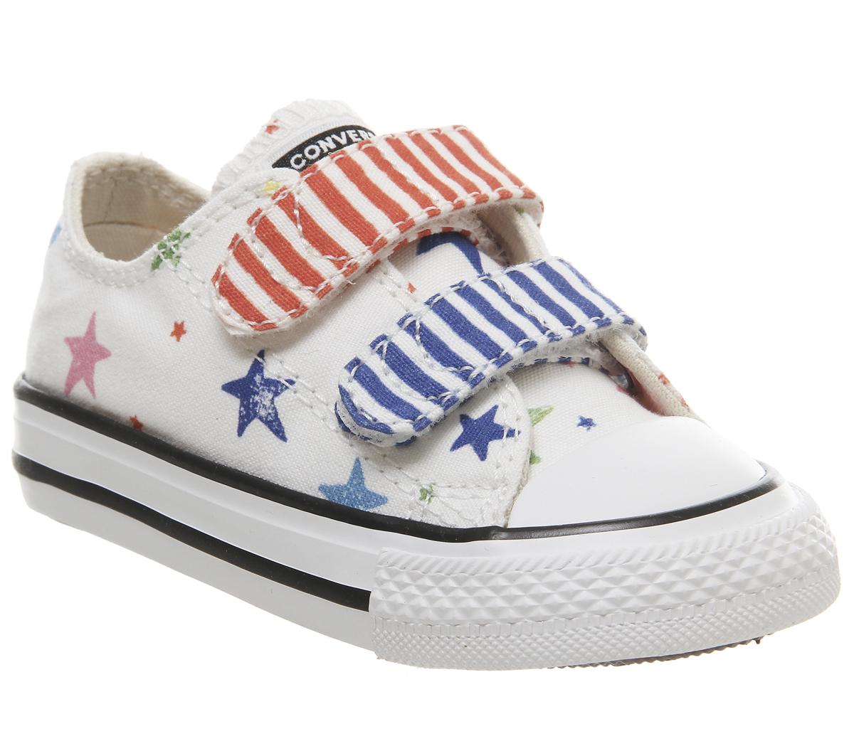best sneakers 83266 87fe2 Dettagli su Bambini Converse All Star 2Vlace Scarpe Sportive Noe e Zoe  Multi Stelle Bambini