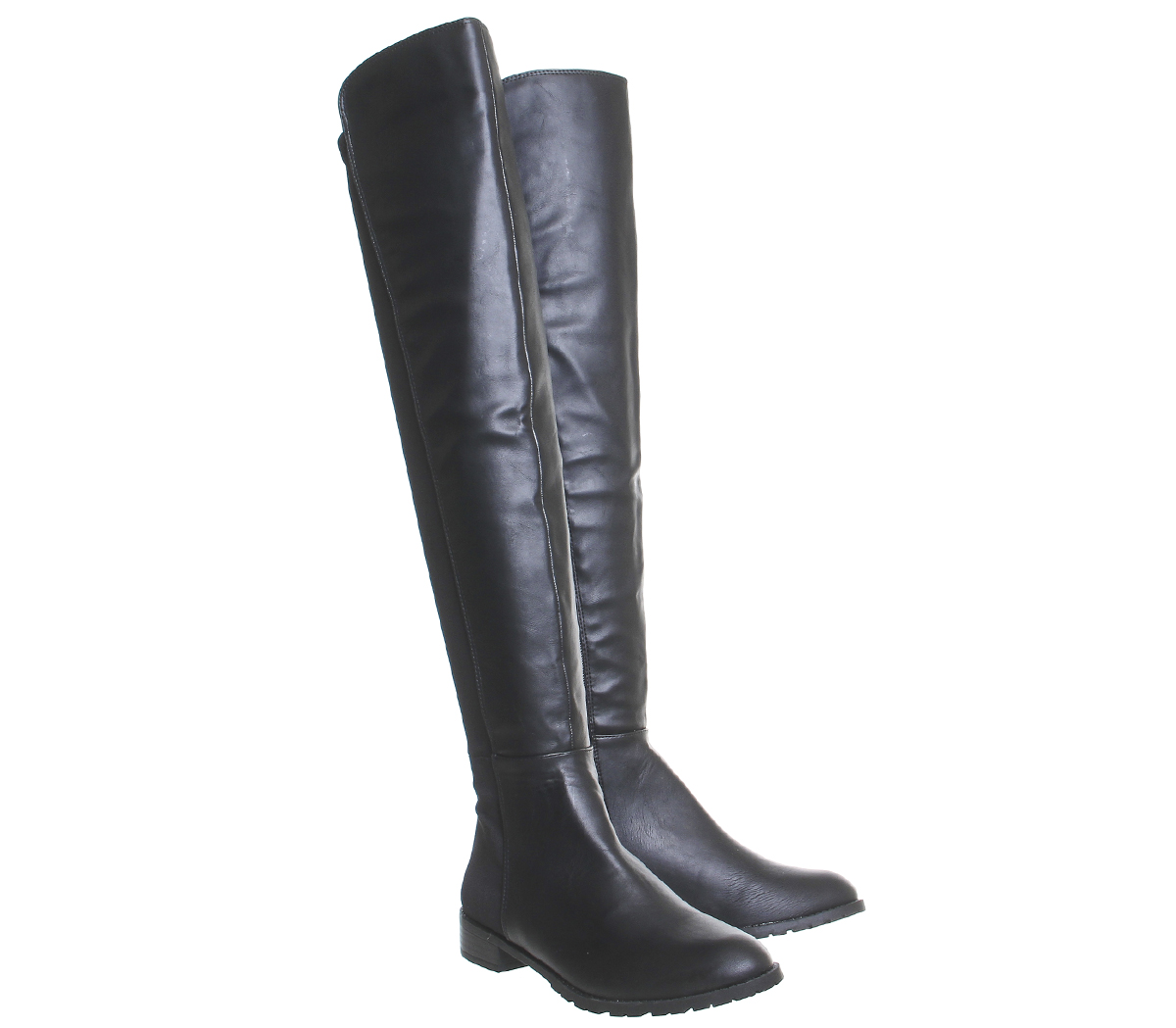 Womens Office Kiwi Flat Over The Knee Boots Black Boots  502a4bdfb3