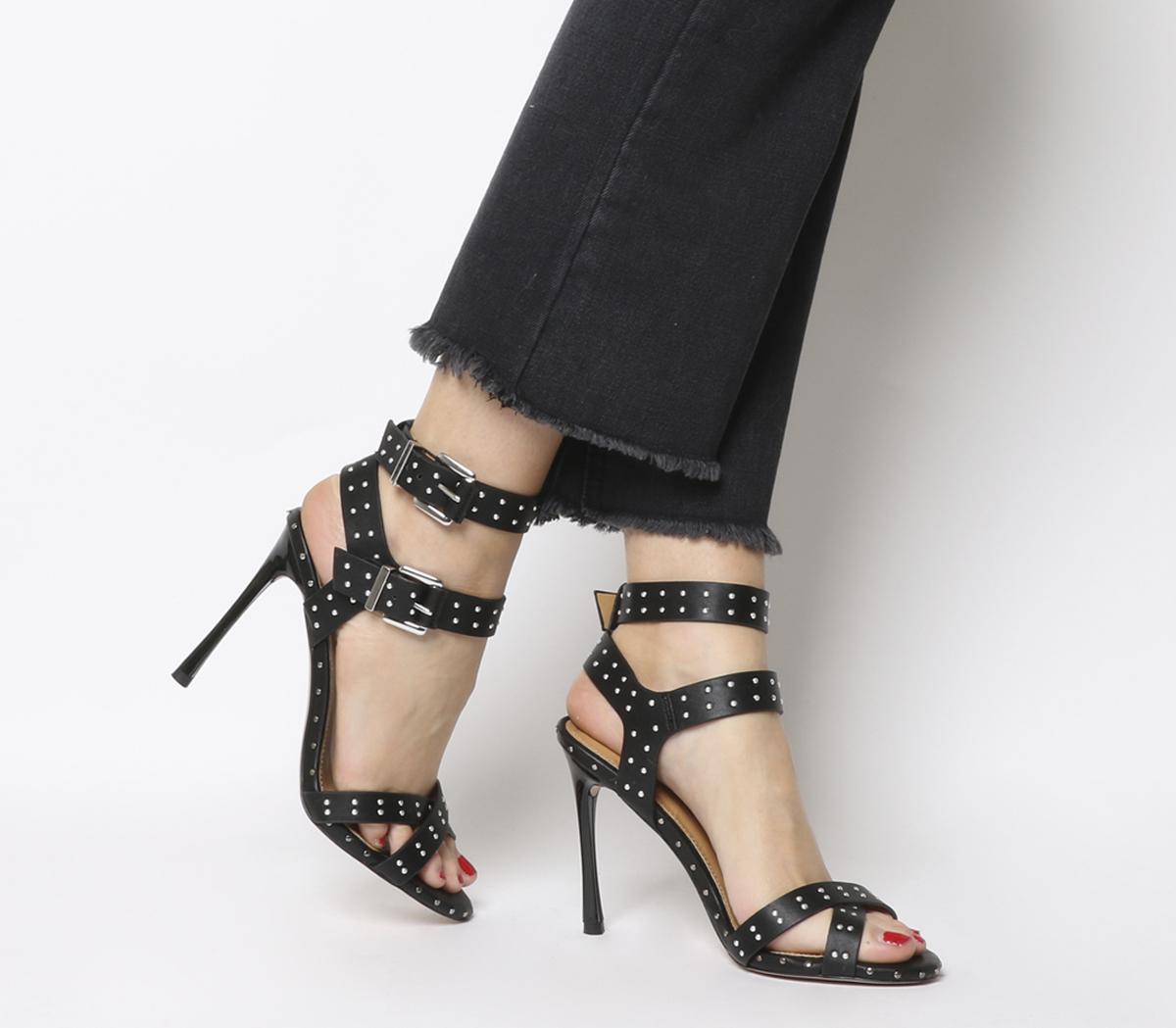 74463485d8c Sentinel Womens Office Hardcore Studded Stiletto Heels Black Heels
