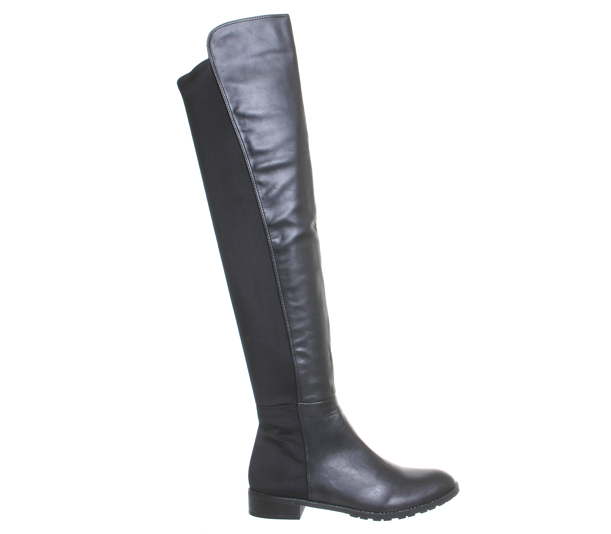 f723bd340a35 Womens Office Kiwi Flat Over The Knee Boots Black Boots