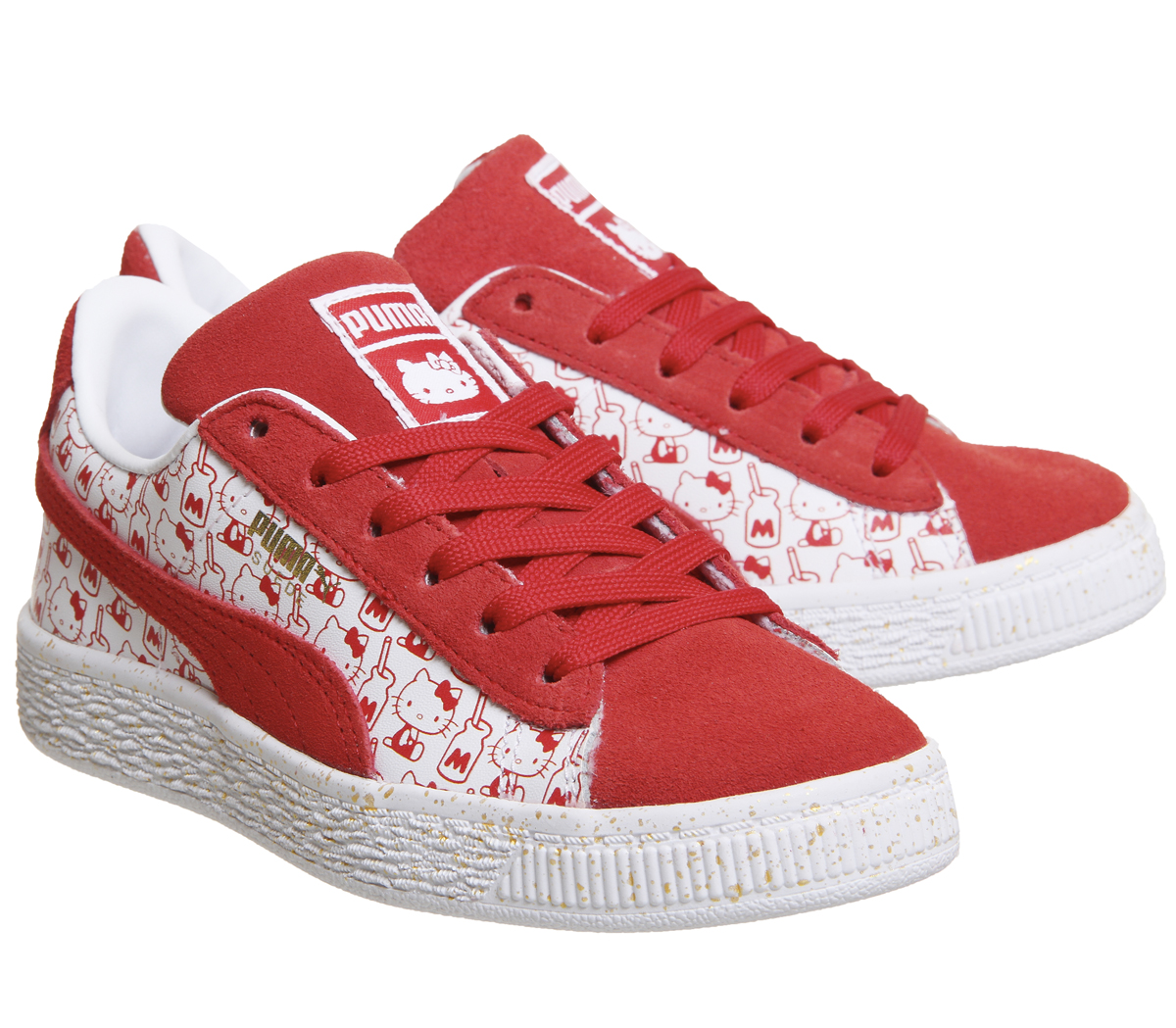 size 40 cdc28 036e9 Details about Kids Puma Suede Classic Ps Hello Kitty Red Kids