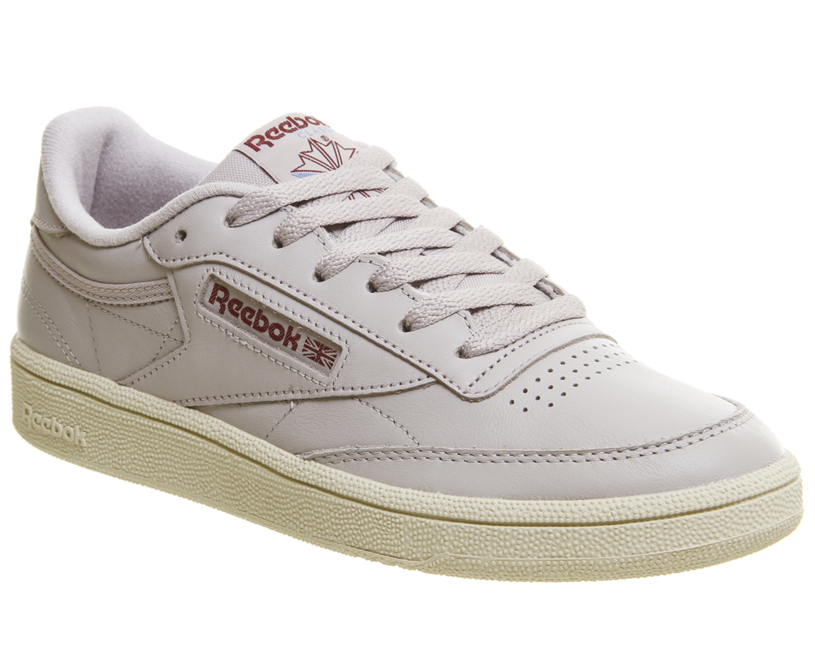 11bcb070a54d2 Sentinel Womens Reebok Club C 85 Trainers Vintage Chalk Lavender Luck Paper White  Trainer