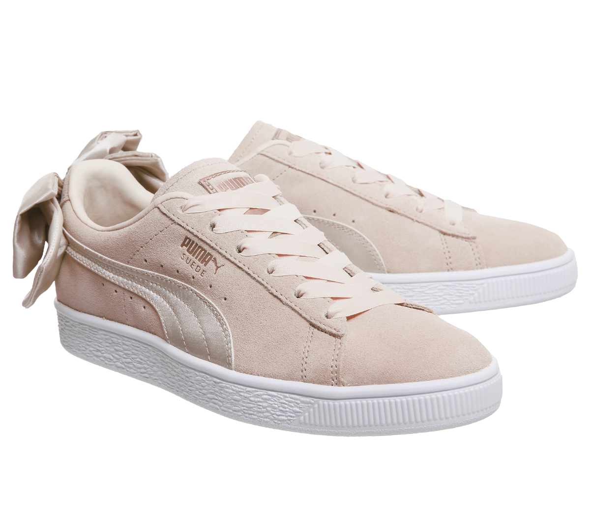 0ecea0d1a99b1f Sentinel Womens Puma Suede Bow Trainers CREAM TAN VALENTINE Trainers Shoes