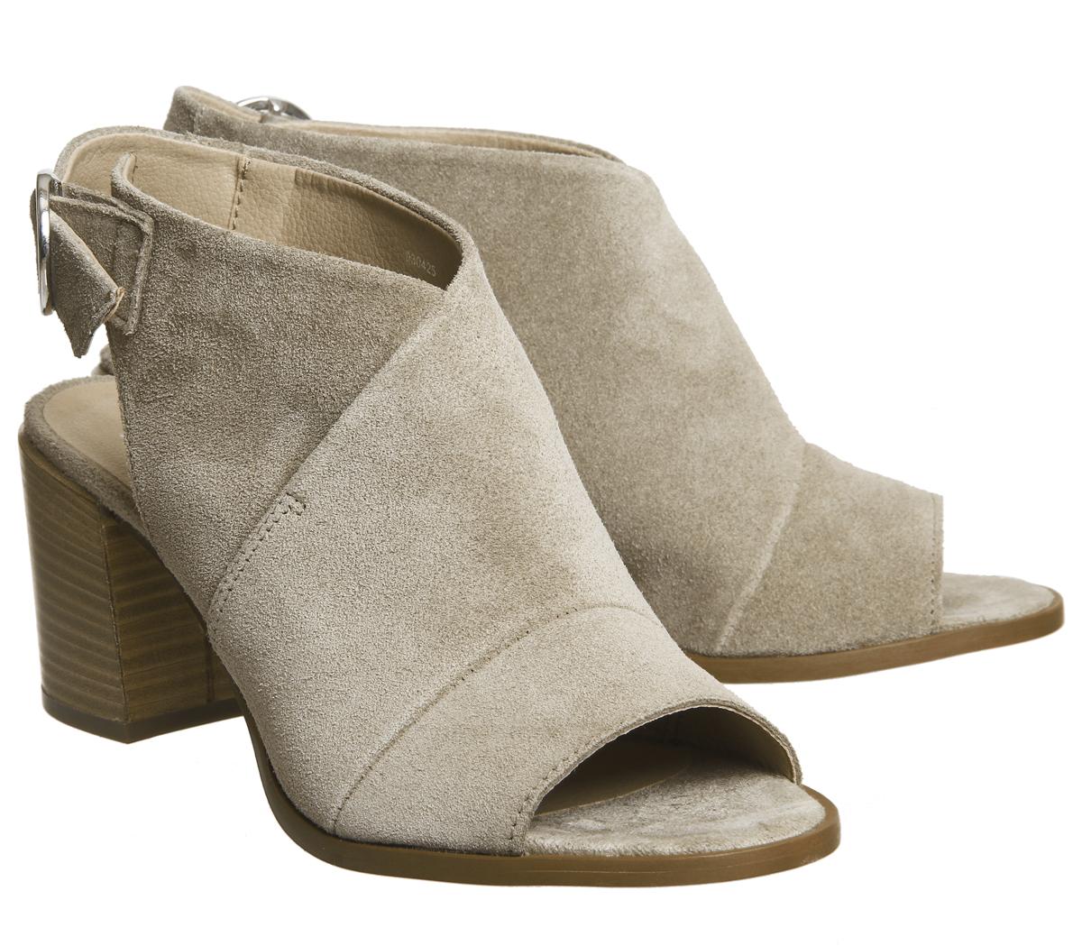 Damenschuhe Sandales Office Mysterious Block Heel Sandales Damenschuhe TAUPE SUEDE Heels 38ed95
