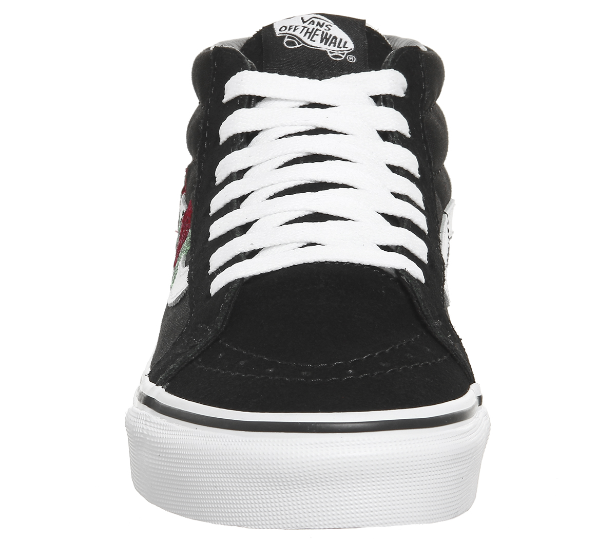 89eff829444e58 Sentinel Womens Vans Sk8 Mid Trainers BLACK RED ROSE Trainers Shoes