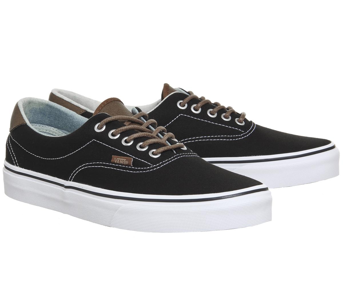 ad85e76a08 Womens Vans Era 59 Lace Up Trainers BLACK ACID DENIM Trainers Shoes ...