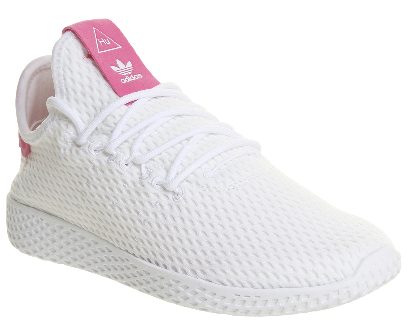 c87f2caec Sentinel Adidas Pw Tennis Hu WHITE SEMI SOLAR PINK Trainers Shoes
