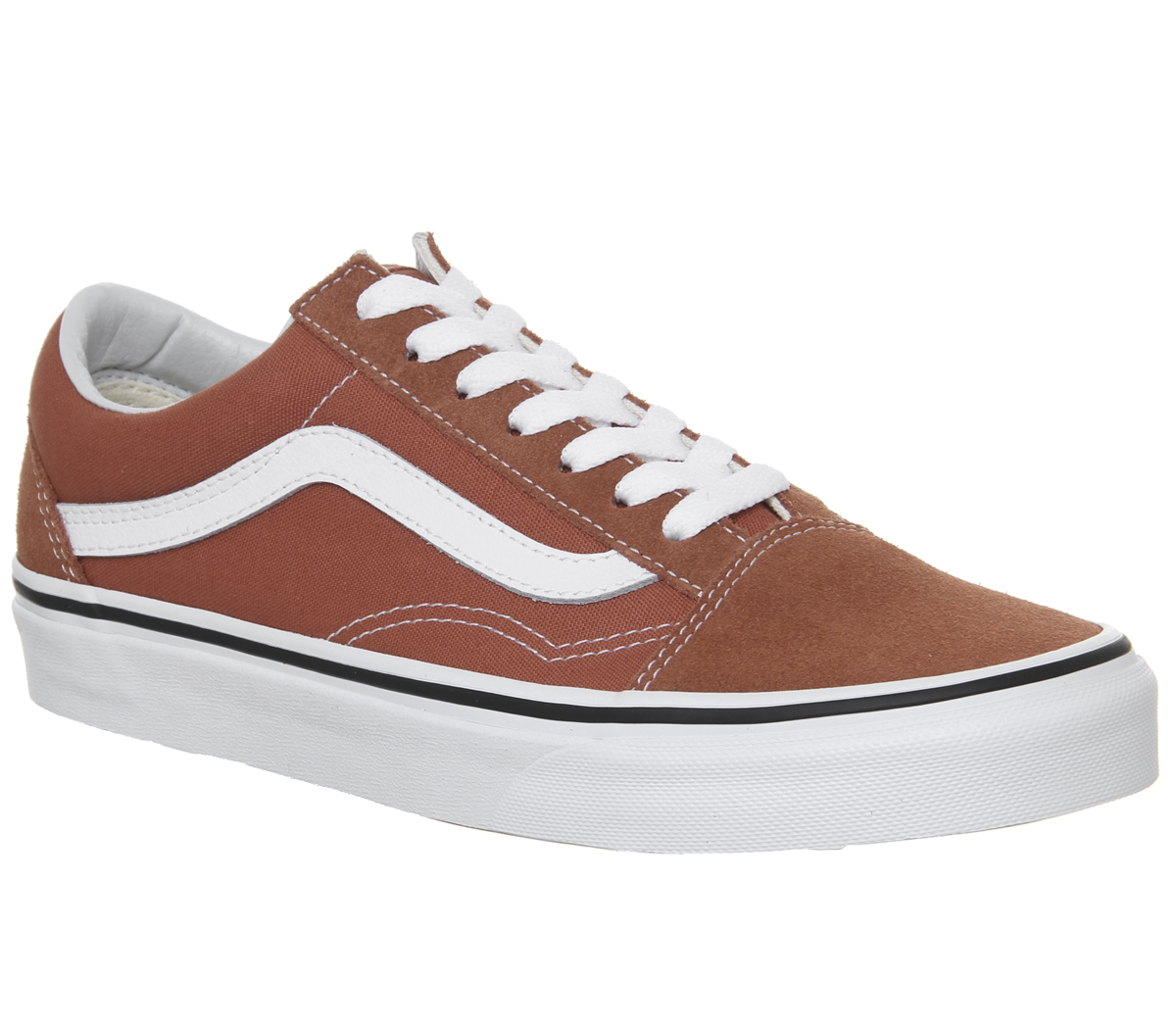 Sentinel Mens Vans Old Skool Trainers Hot Sauce True White Trainers Shoes 61e68992411