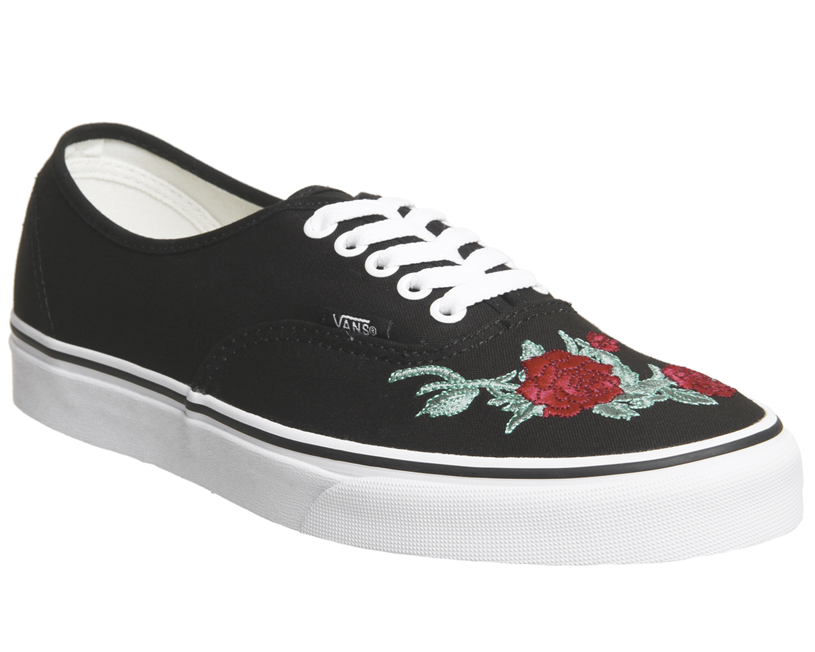 f49712a50af8 Sentinel Womens Vans Authentic Trainers Black Red Rose Trainers Shoes
