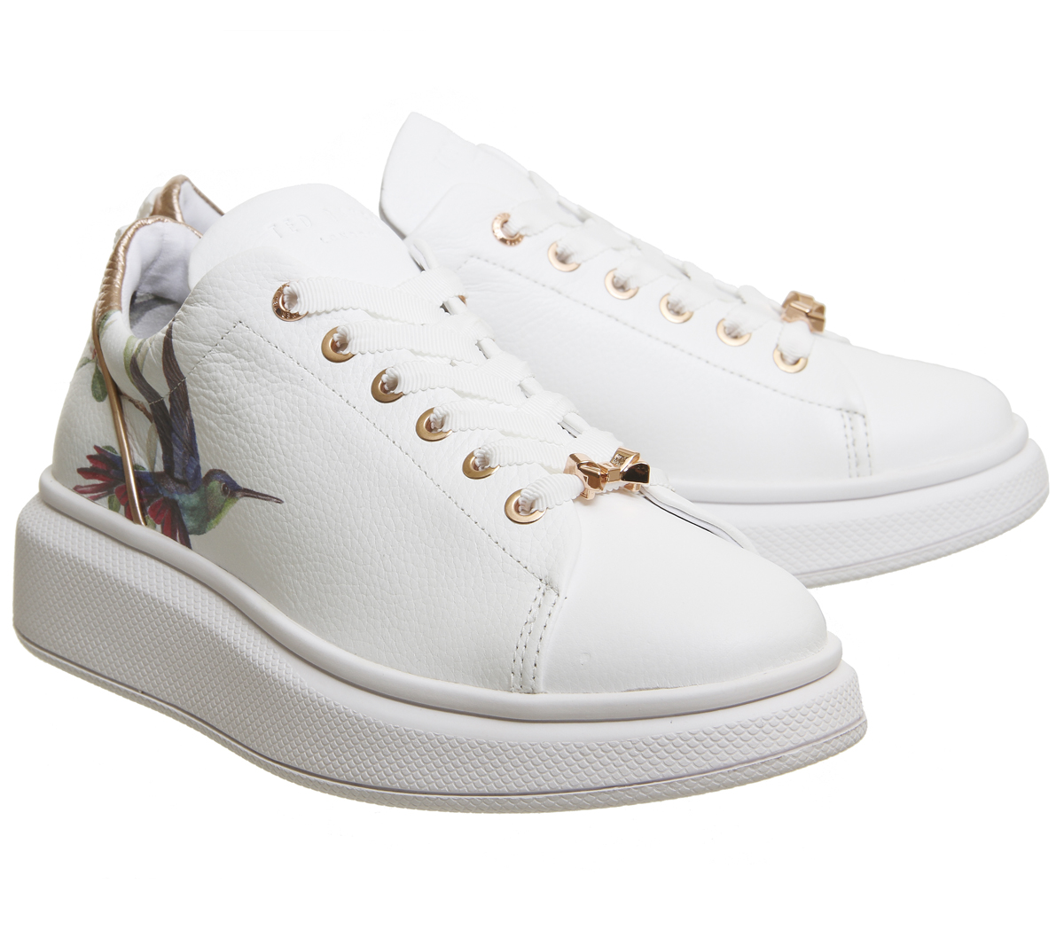 96e80b6fd5a Womens Ted Baker Ailbe Sneakers HIGHGROVE HUMMINGBIRD Trainers Shoes ...