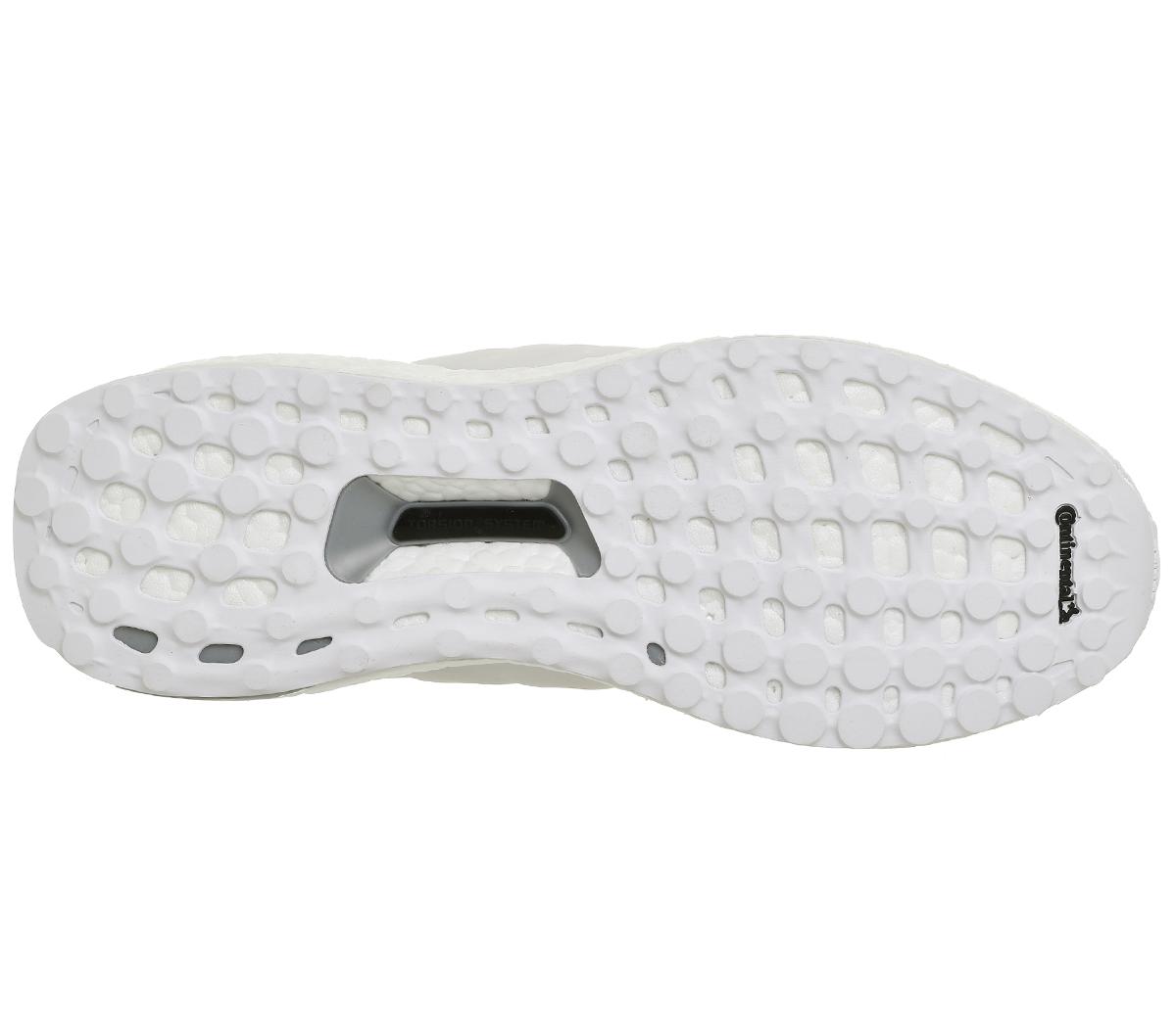 Herren Adidas Ultra Boost Weiß Weiß MONO Trainers Schuhes f30afc