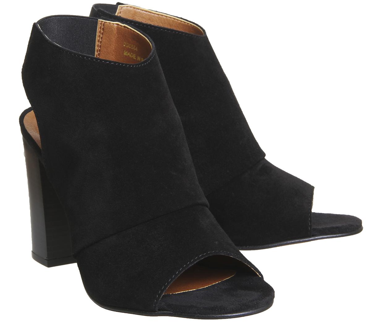 Damenschuhe Schuhe Office Hysterical Block Heel Schuhe Damenschuhe Stiefel BLACK SUEDE Heels 50ec22
