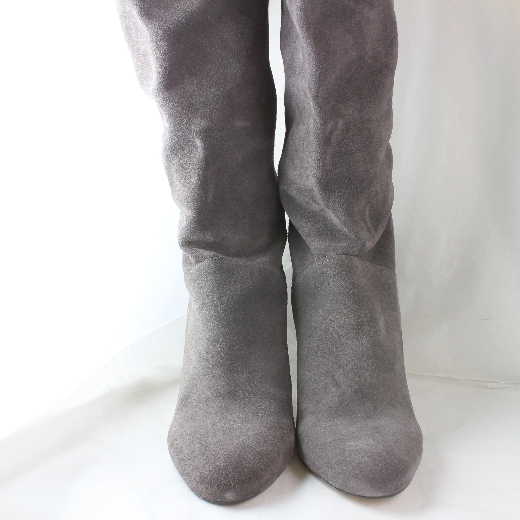 Sentinel Womens Office 2 Thigh High Grey Suede Knee Boots Uk Size 6 Ex Display