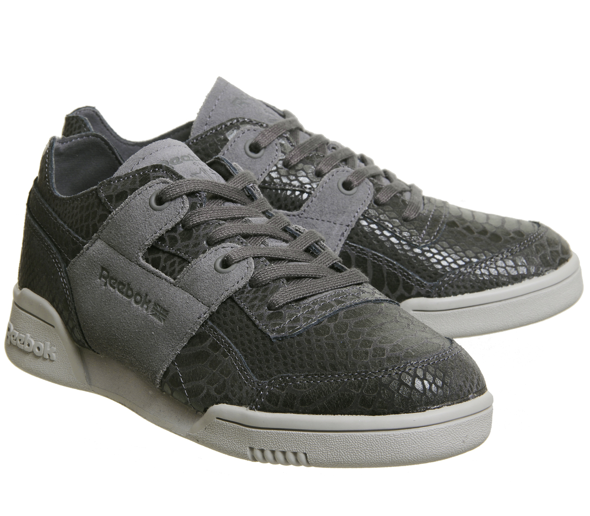 cf2077e51f3f Womens Reebok Workout Plus ASH GREY FOIL Trainers Shoes