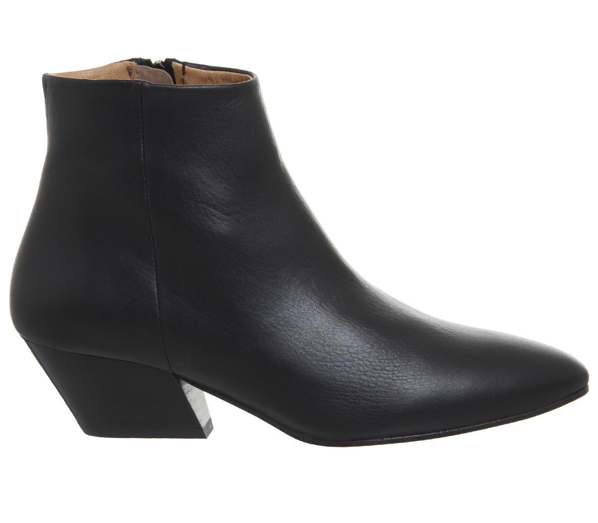 Damenschuhe Damenschuhe Damenschuhe Office Atone Western Block Heel Stiefel BLACK LEATHER BLACK HEEL Stiefel b55a9f