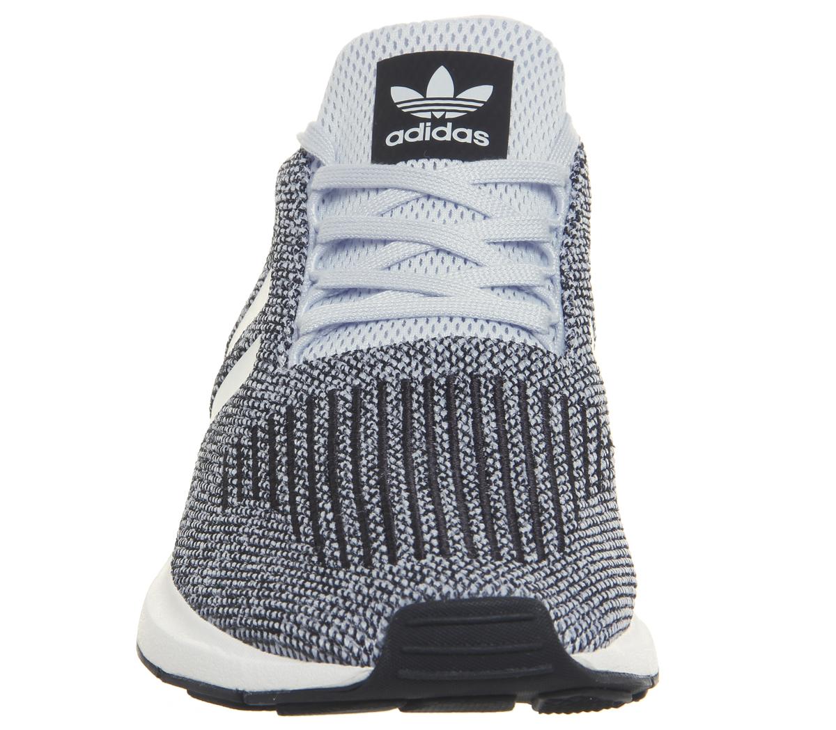 a00b10d11e438 Mens Adidas Swift Run Trainers AERO BLUE WHITE Trainers Shoes