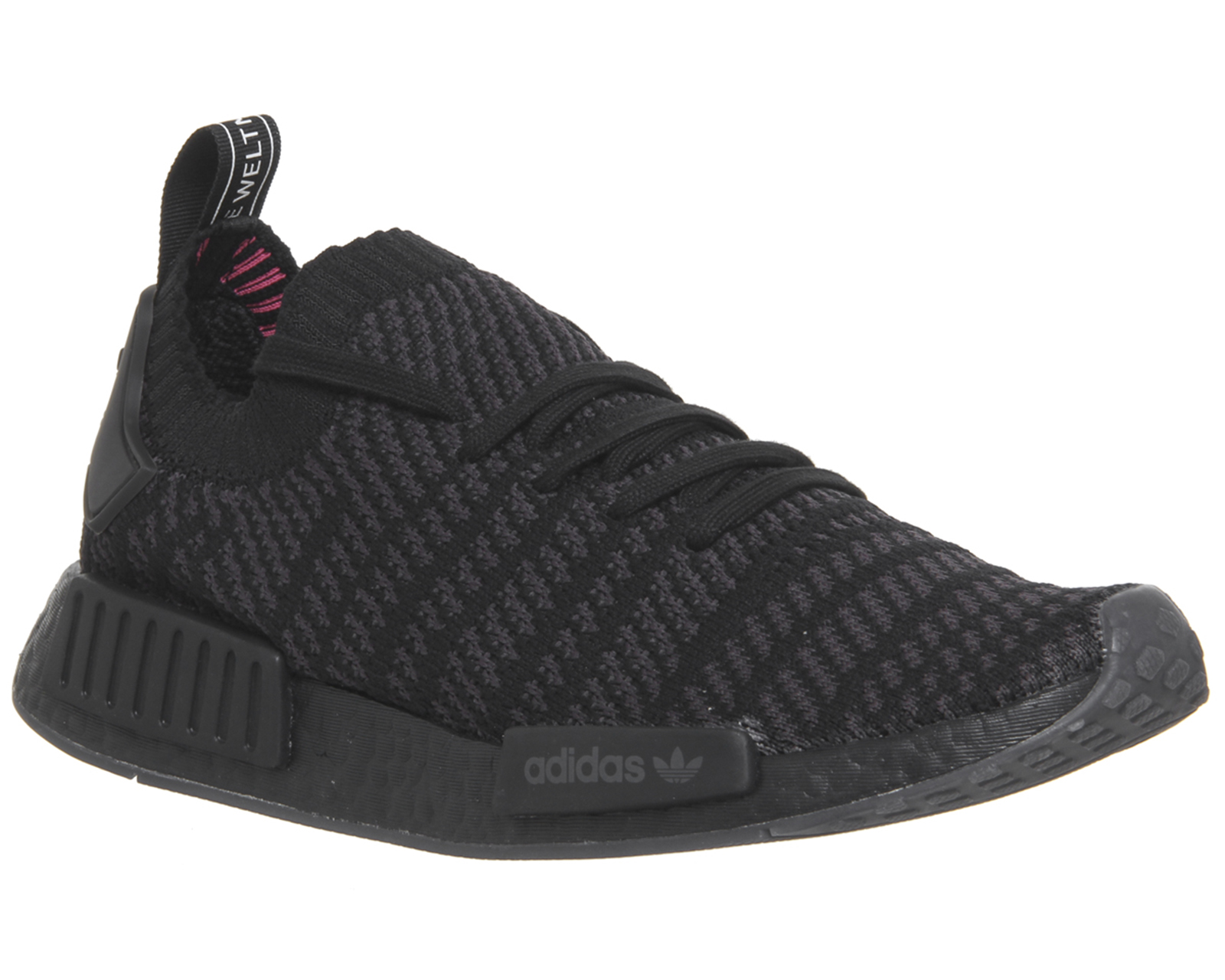 5c641d95d Sentinel Adidas Nmd R1 Trainers Core Black Utility Black Solar Pink  Trainers Shoes