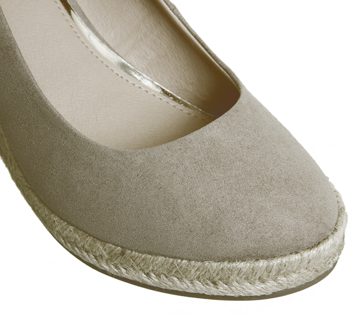 64964f3899b9 Womens Office Marbella Closed Toe Espadrilles Taupe Heels