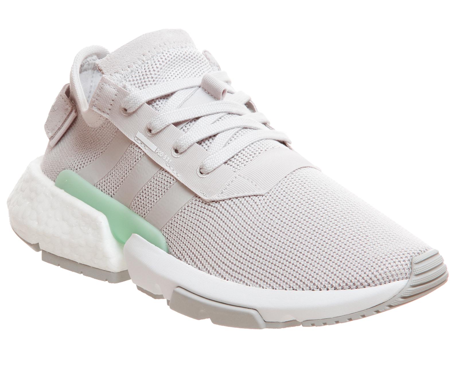 SENTINEL Adidas Pod S 3.1 allenatori grigio chiaro menta formatori scarpe b4729de92437