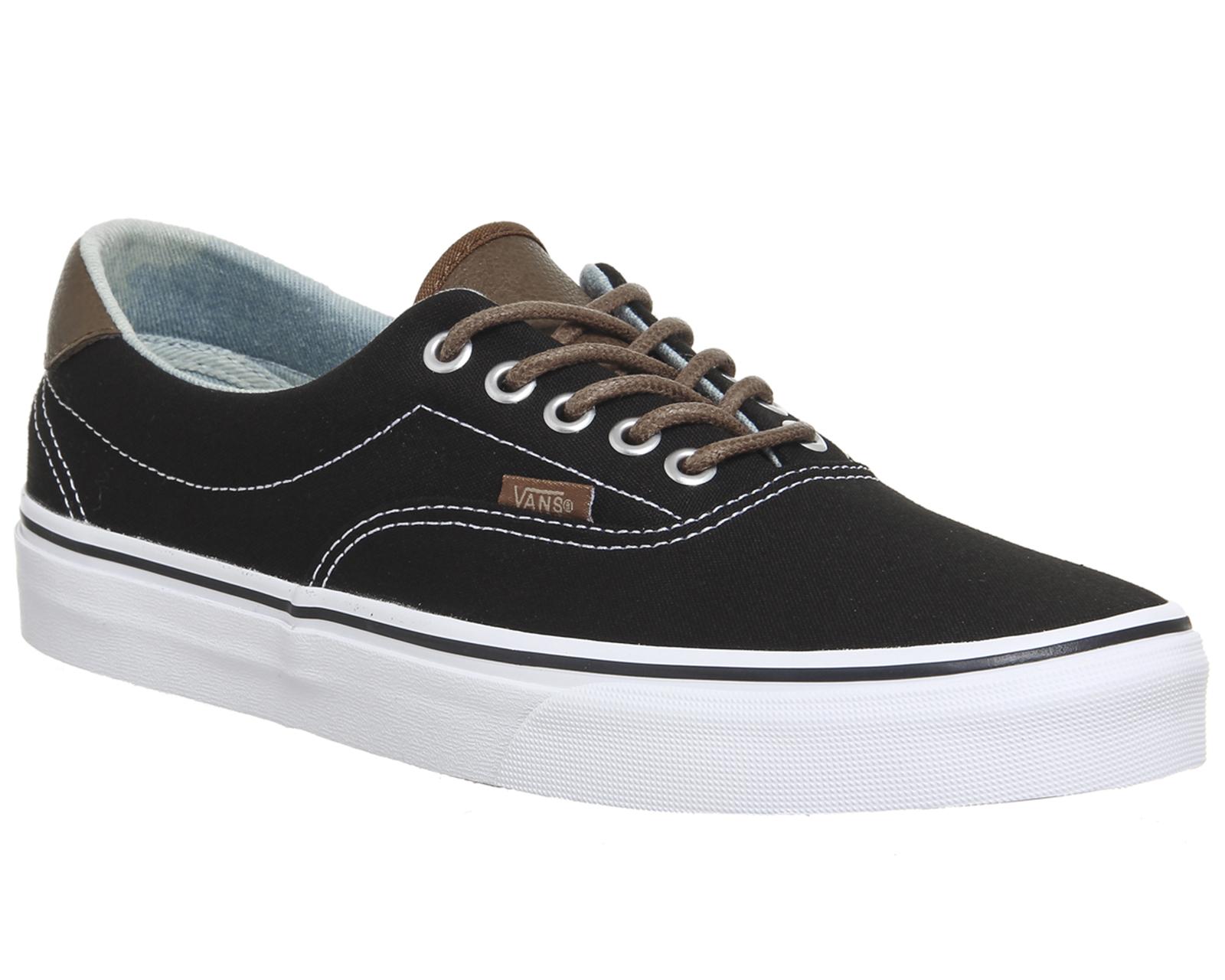 8c5331eabf28e3 Womens Vans Era 59 Lace Up Trainers BLACK ACID DENIM Trainers Shoes ...