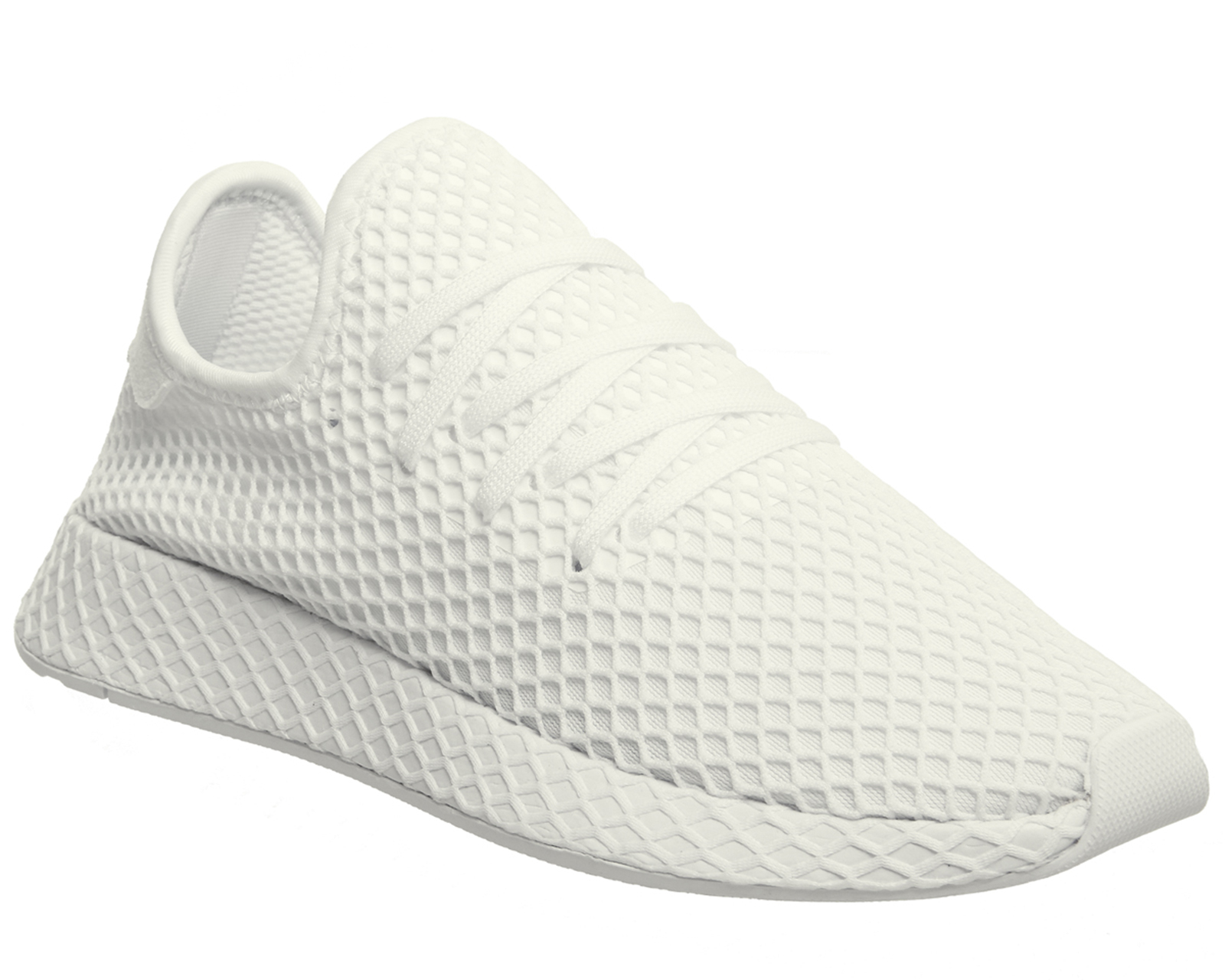 dc57dc2d8af9 Sentinel Mens Adidas Deerupt Trainers WHITE WHITE WHITE Trainers Shoes