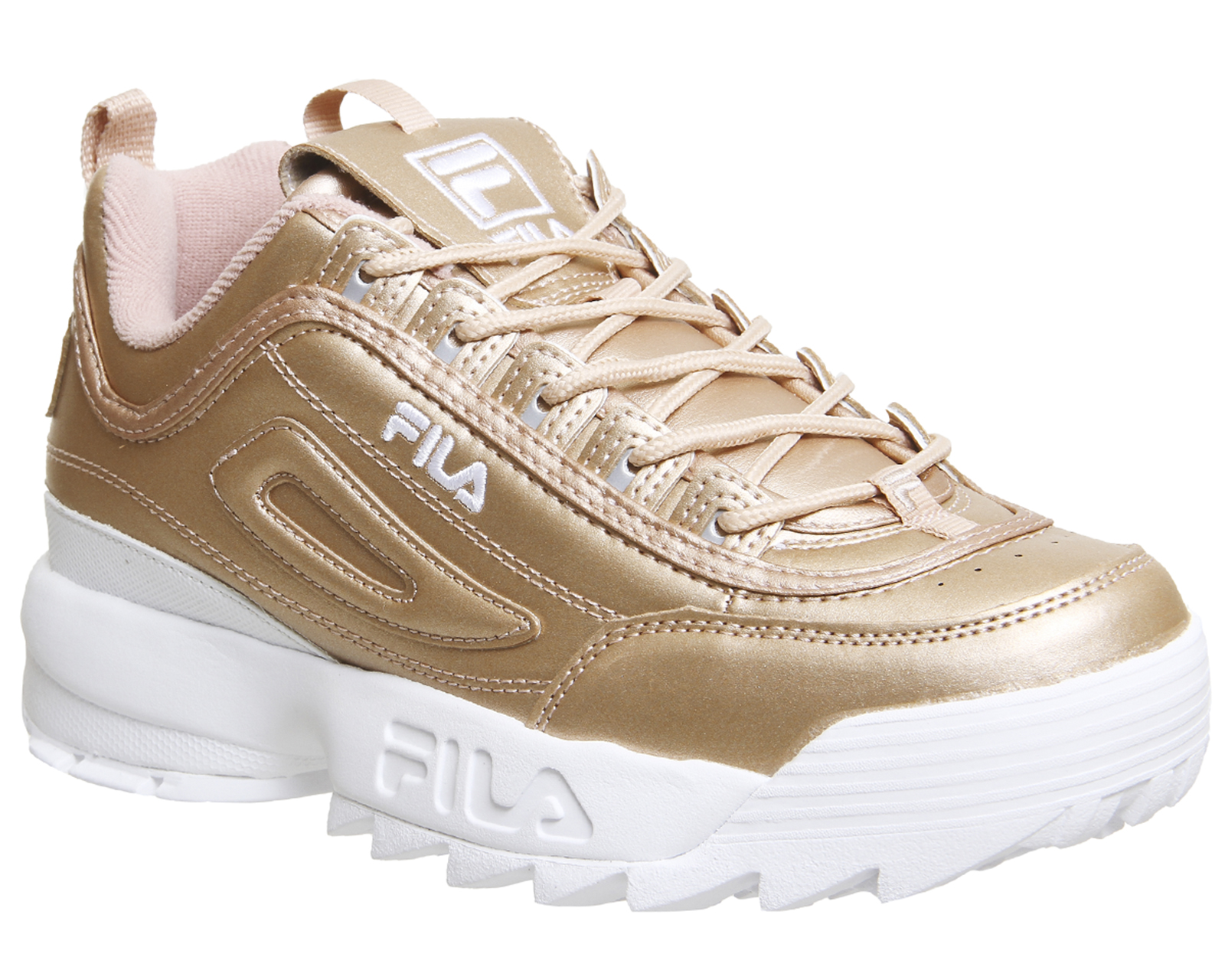 c831630a98 Sentinel Womens Fila Disruptor Ii Trainers ROSE GOLD METALLIC Trainers Shoes