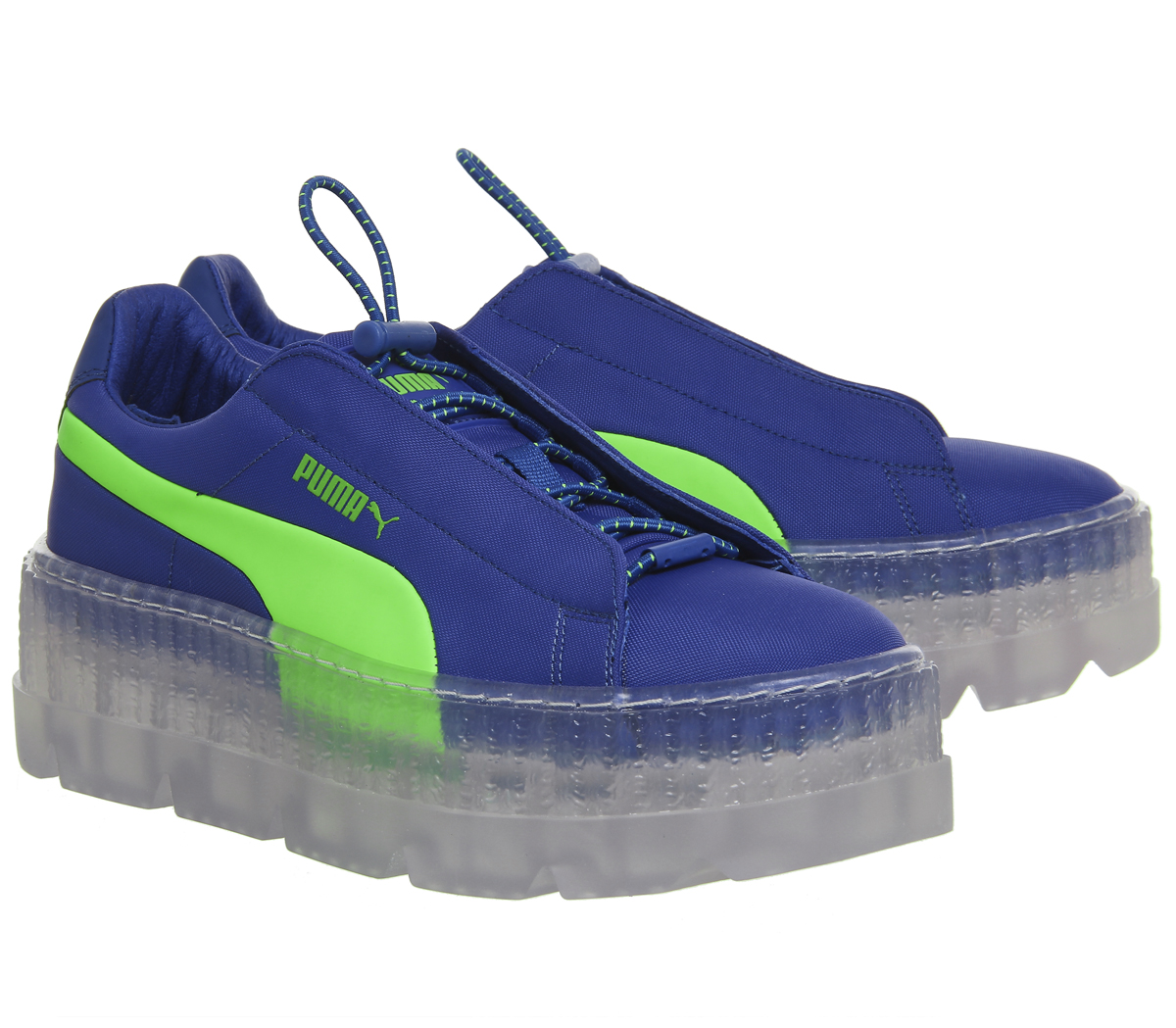 1884795c3ad Womens Puma Fenty Cleated Creepers SURF DAZZLING BLUE GREEN Trainers ...