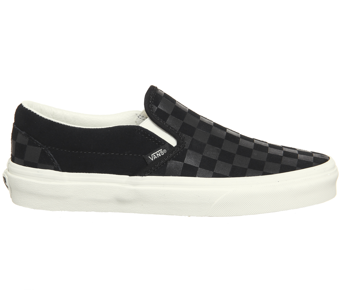 Sentinel Mens Vans Vans Classic Slip On Trainers Black Marshmallow  Checkerboard Trainers 8c3f53222