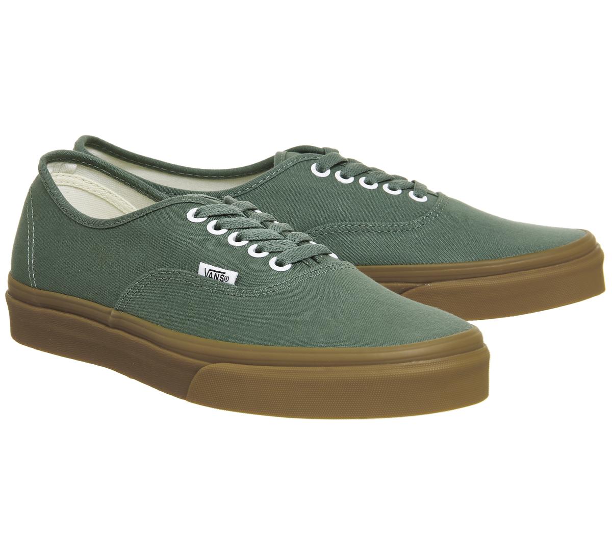 61435581da Para Hombre Vans Auténtico tenis Pato Verde Tenis Zapatos