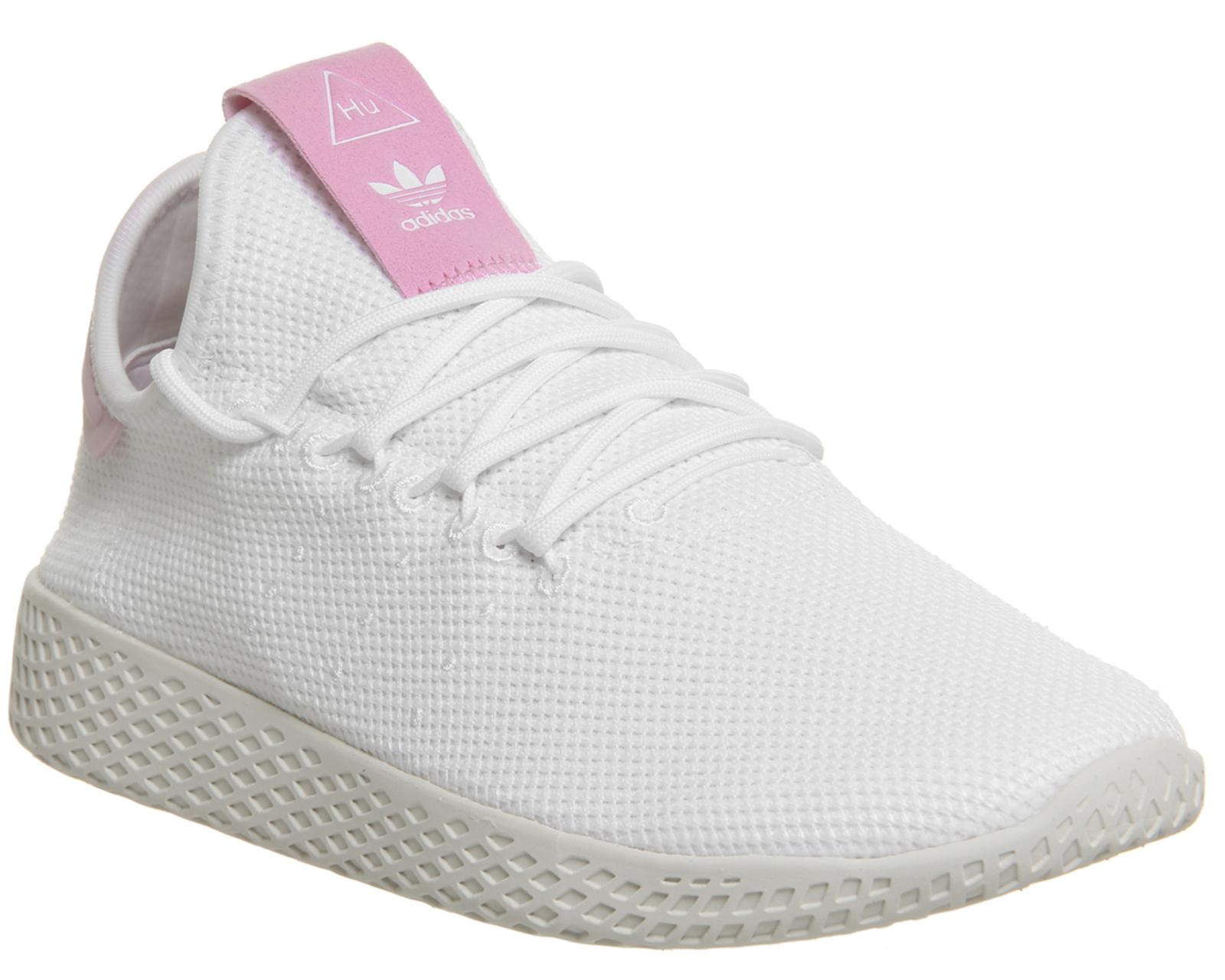 fc80cd9ca Sentinel Womens Adidas Pw Tennis Hu White White Pink F Trainers Shoes