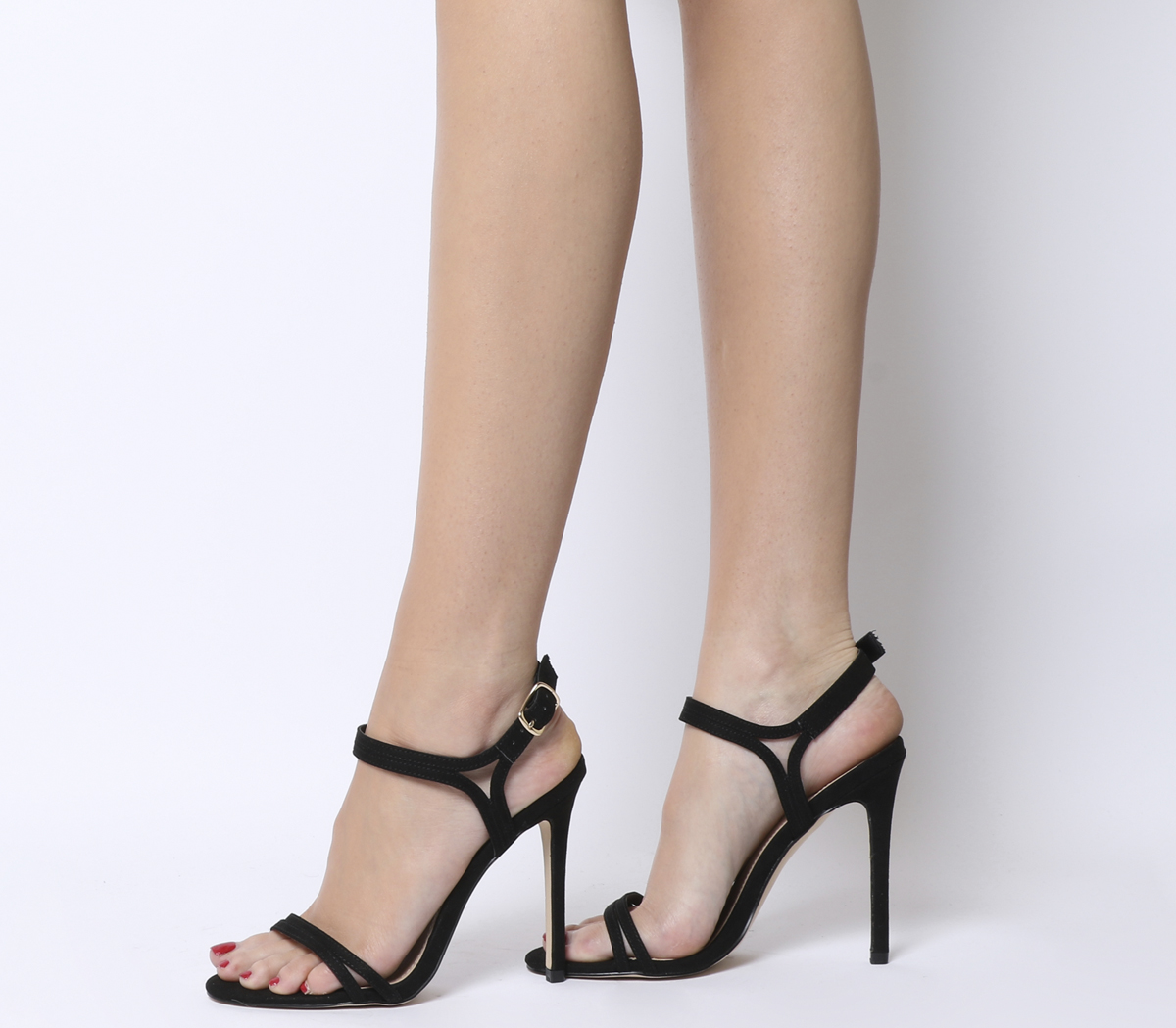 0e5857a7808 Sentinel Womens Office Hot Cake Strappy Sandals Black Heels
