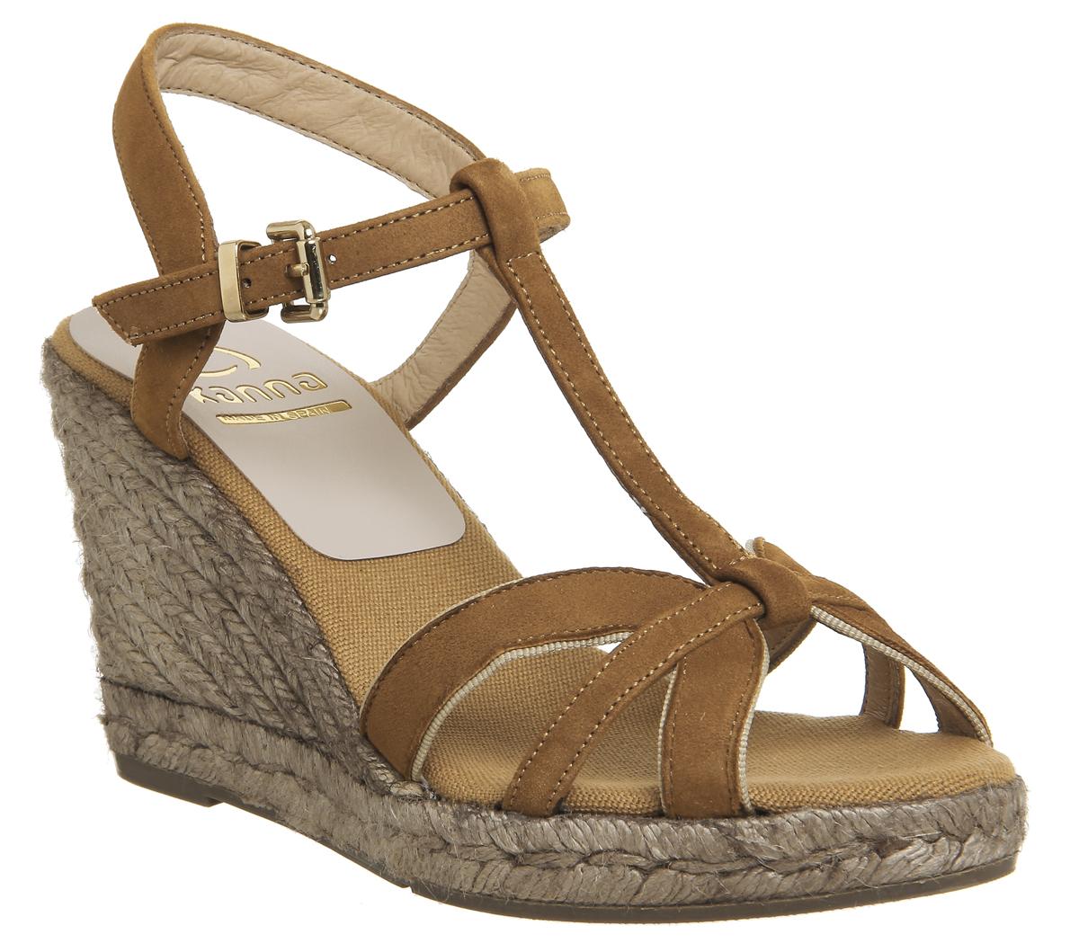 SENTINELLE Womens Kanna Evita sandales TAN SUEDE sandales 42af2660581f