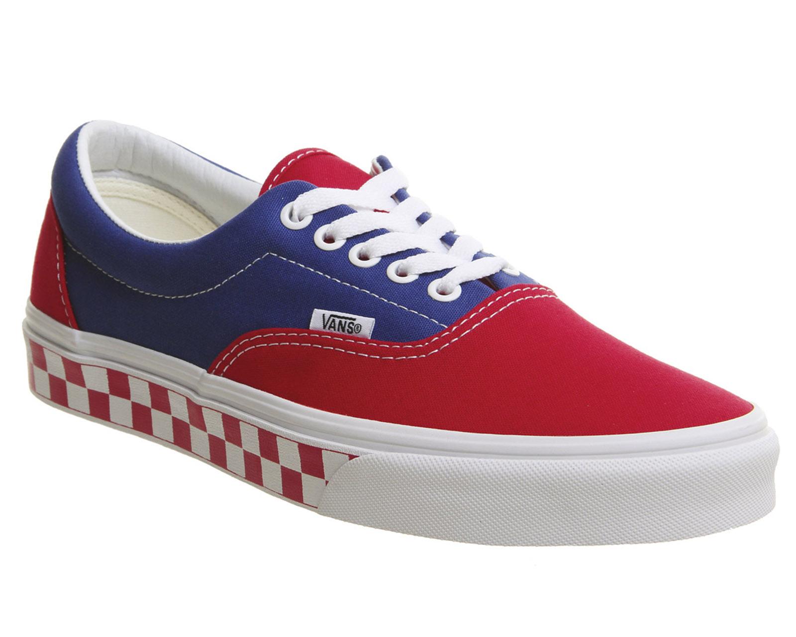 Sentinel Mens Vans Era Trainers True Blue Red Checker Trainers Shoes b35406e79