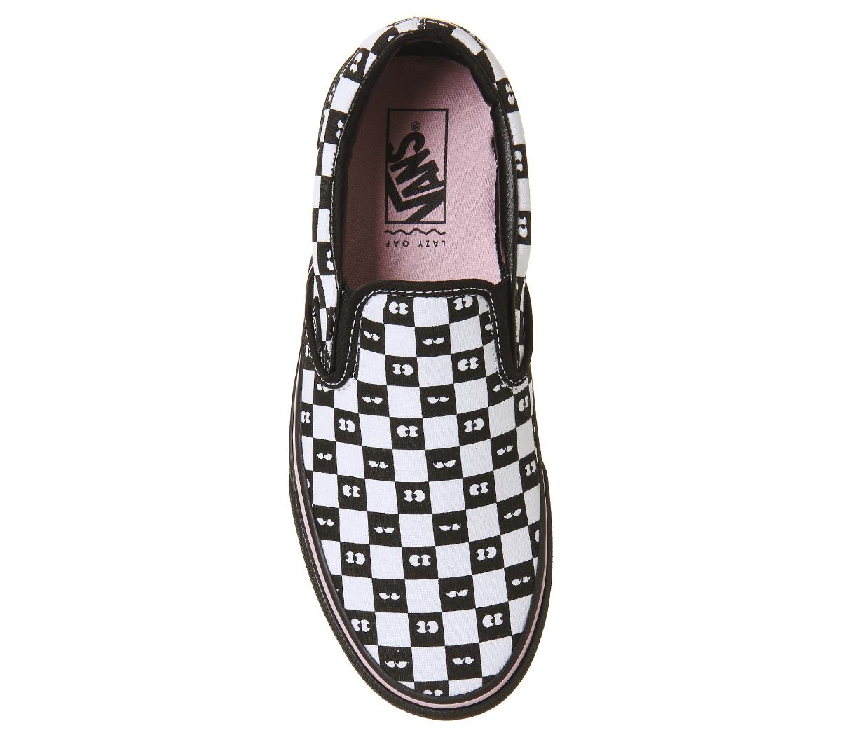 Womens Vans Vans Classic Slip On Trainers Lazy Oaf Eyeballs ... f8596aef2