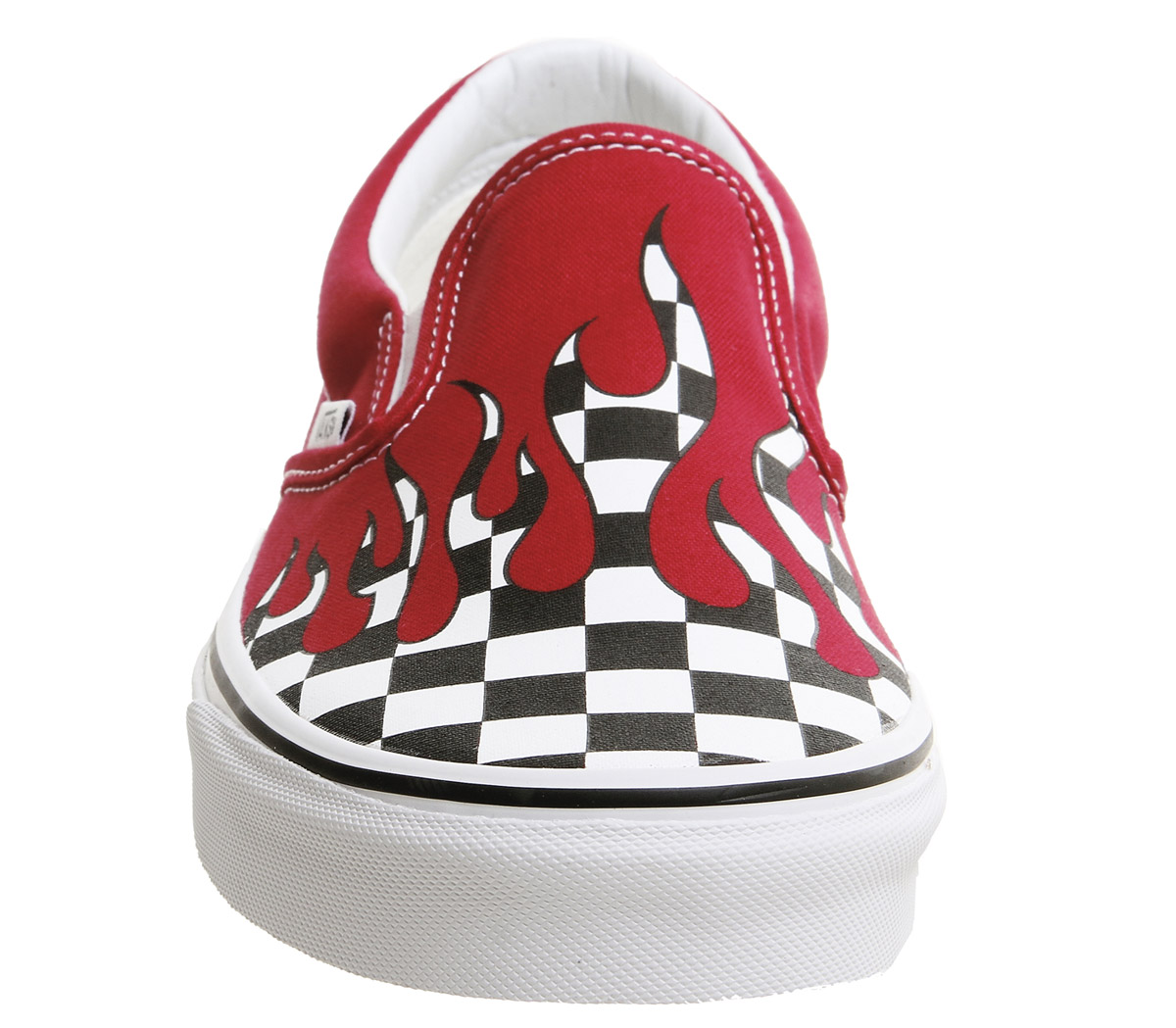 630ea53dc9 Mens Vans Vans Classic Slip On Trainers Racing Red Checkerboard ...