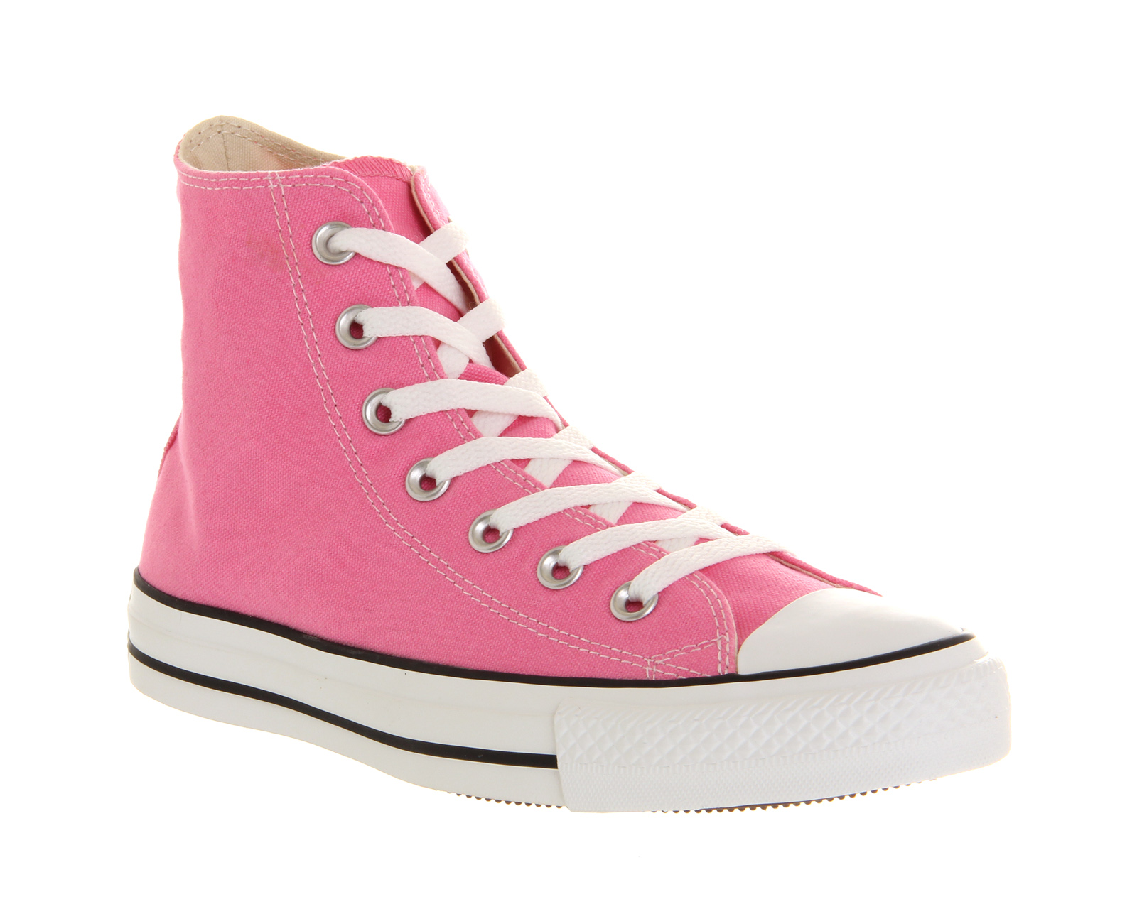 Converse PINK Converse All Star Hi PINK Converse CANVAS Trainers Schuhes 4097e8