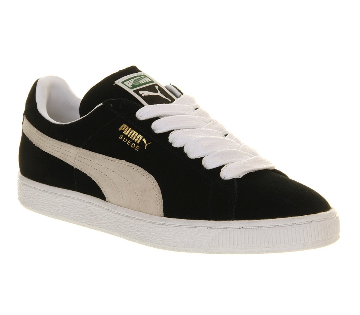 mens puma suede classic black white trainers shoes ebay. Black Bedroom Furniture Sets. Home Design Ideas