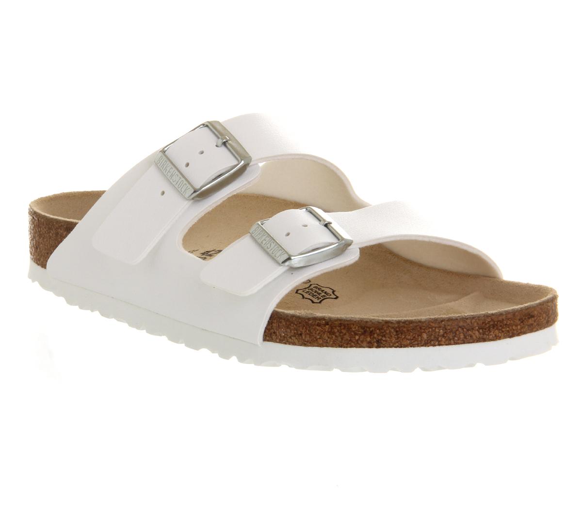 Sandali bianchi per donna Birkenstock Arizona 4ZwLs