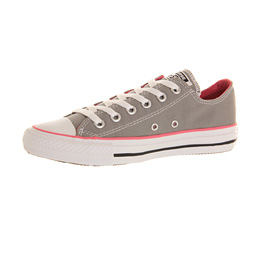 Mens Converse All Star Low GREY PINK CANVAS Trainers Shoes  26cb4306b