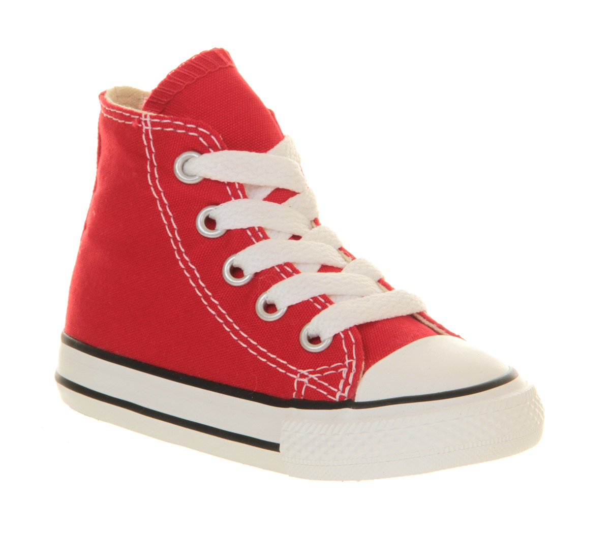 9554398250b Sentinel Kids Converse Small Star Hi Canvas Red Kids