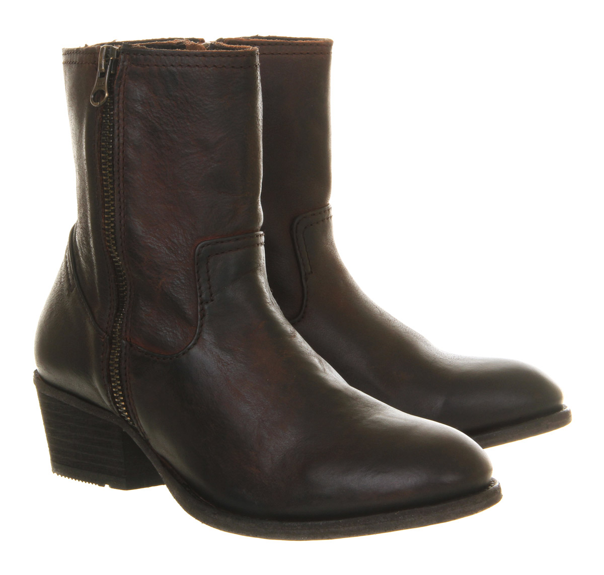 Womens Hudson London Riley Zip Ankle Ankle Ankle Boots Tan Leather Boots 0a64b4