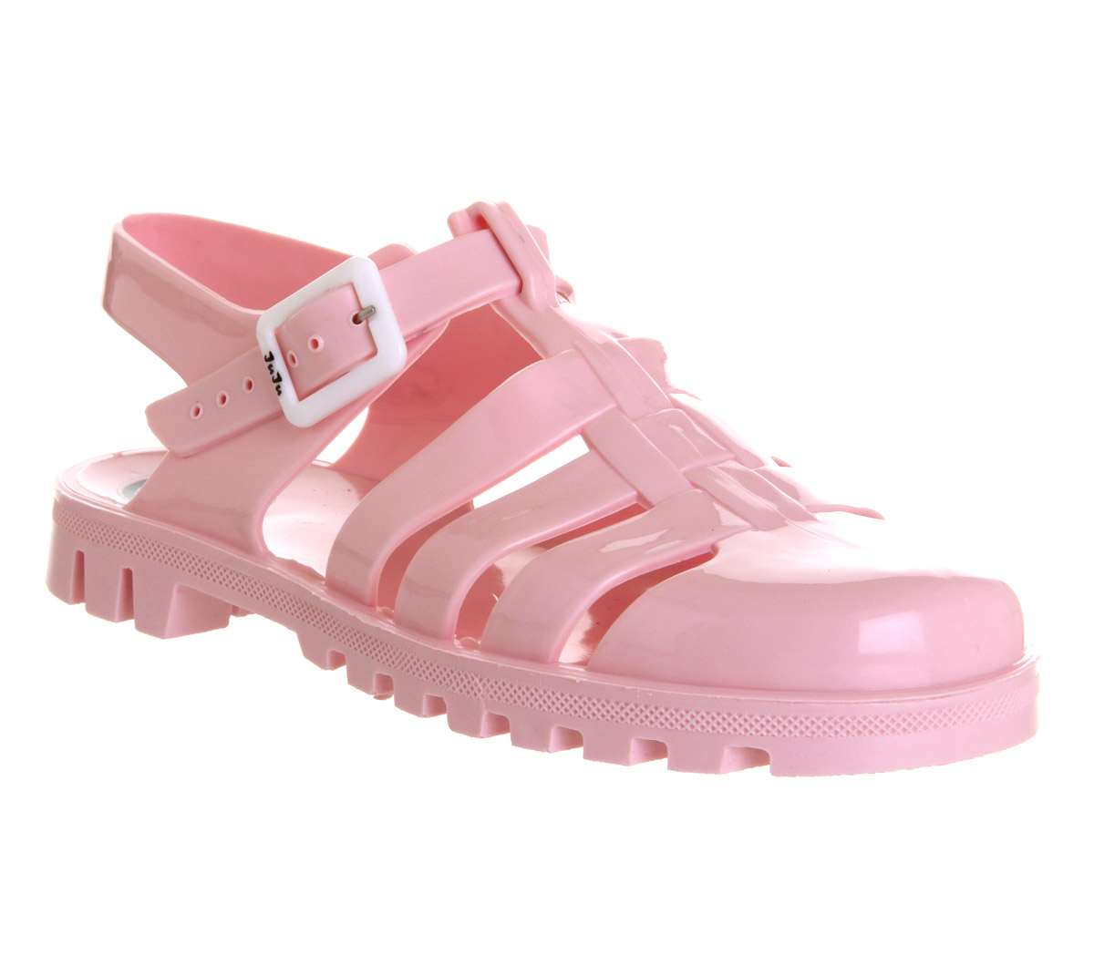 0c2d474700b9 Details about Womens JuJu Maxi Low Jelly Shoes PALE PINK Sandals