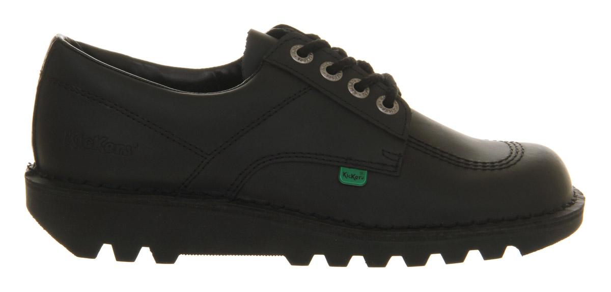thumbnail 3 - Mens Kickers Kick Lo M Black Leather Formal Shoes