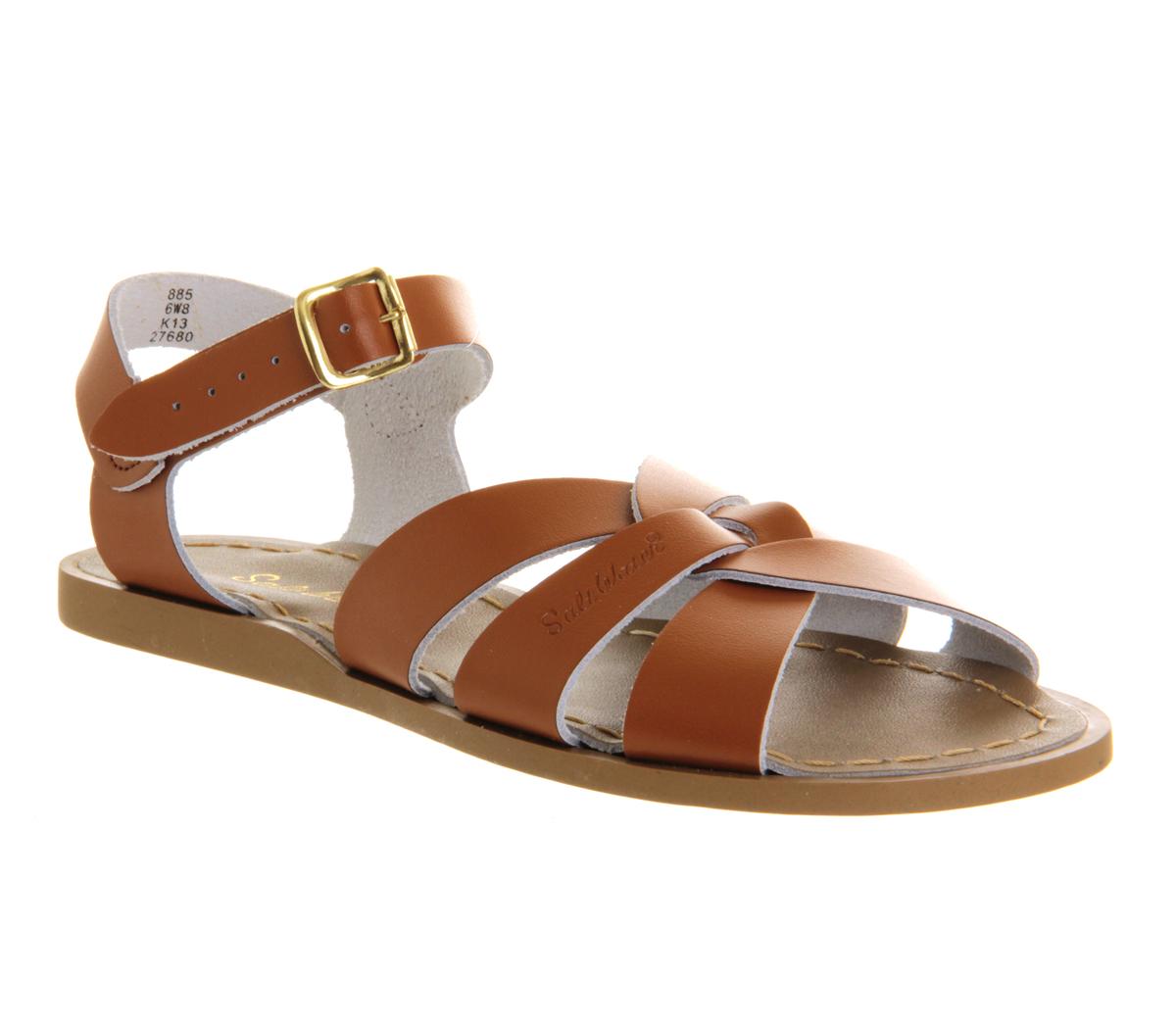 4139e6ed79dc Sentinel Womens Salt Water Original Sandals TAN LEATHER Sandals