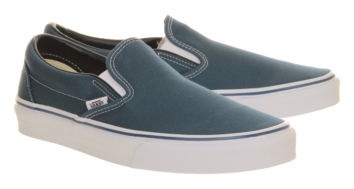 Herren Vans Classic Slip On Trainers Trainers Trainers NAVY Trainers Schuhes a30707
