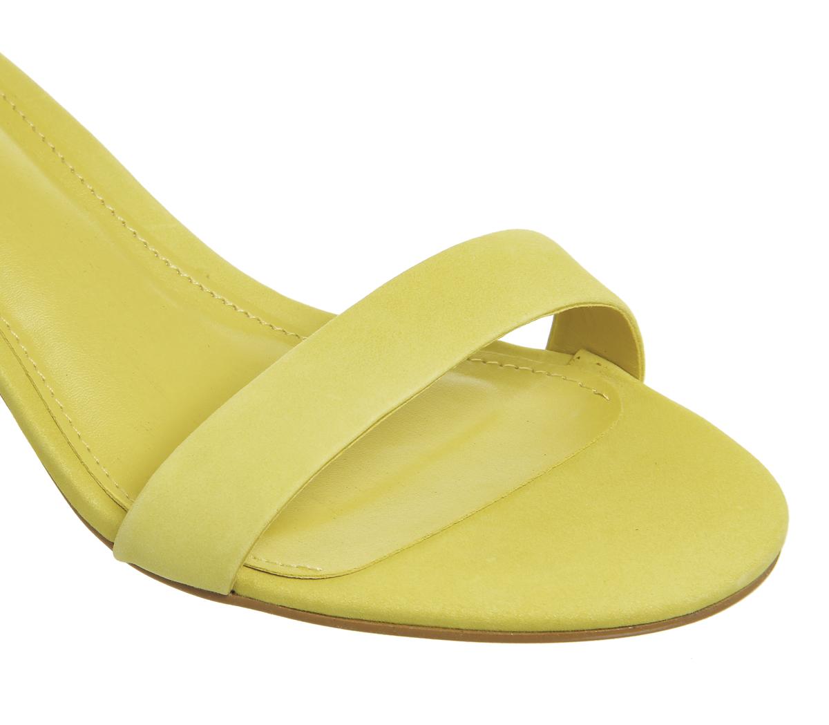 d673c12321c Womens Office Finley Block Heel Sandals Yellow Nubuck Heels