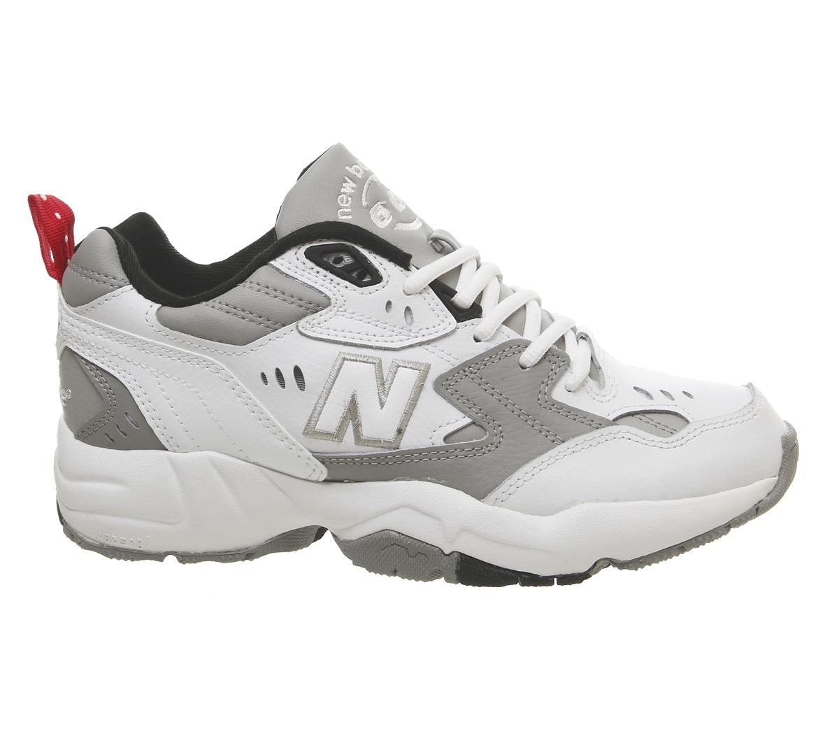 40a33673ae SENTINEL Womens nuovo equilibrio 608 formatori dei formatori grigio scarpe  bianco