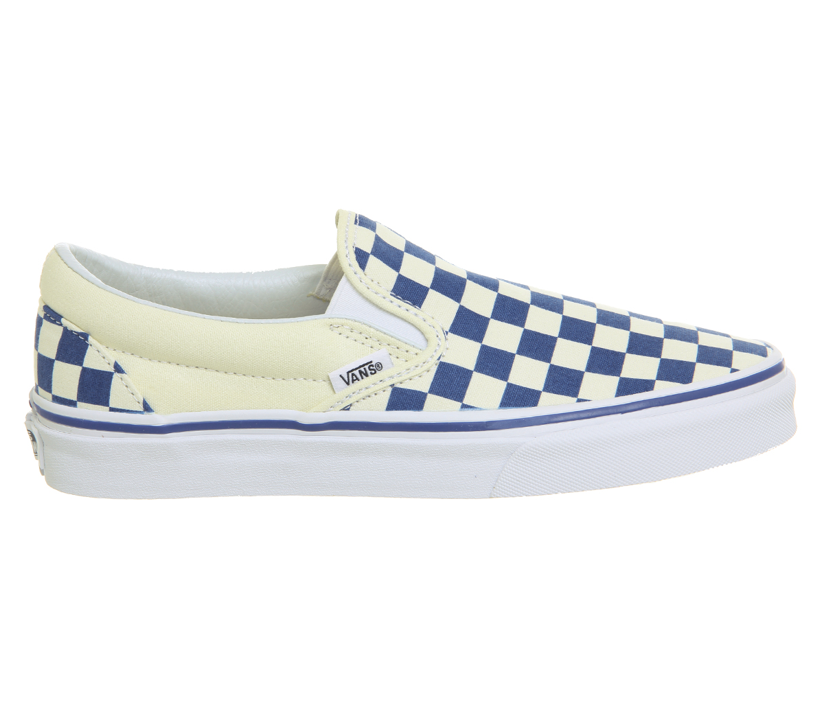 4d4f847a2074 Sentinel Mens Vans Vans Classic Slip On Trainers TRUE BLUE CLASSIC WHITE  CHECKERBOARD Tra